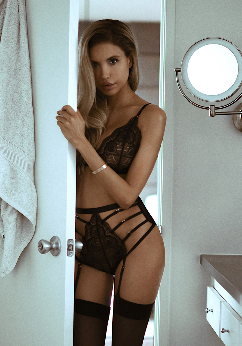 Sensuale completino intimo in pizzo